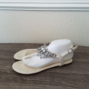 4/10- David's Bridal Sandals size 9M